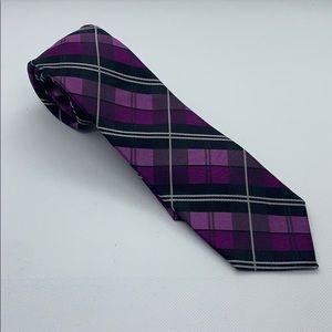 Men's express purple gingham tie